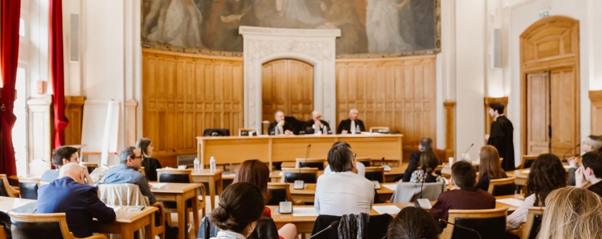 La salle des conseils de l'université Paris 2 Panthéon-Assas
